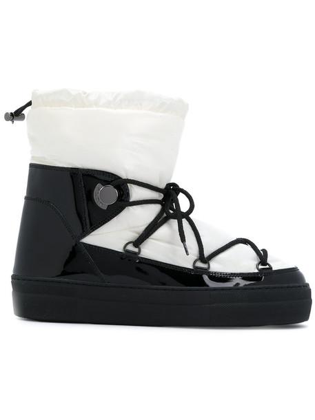moncler women leather black shoes