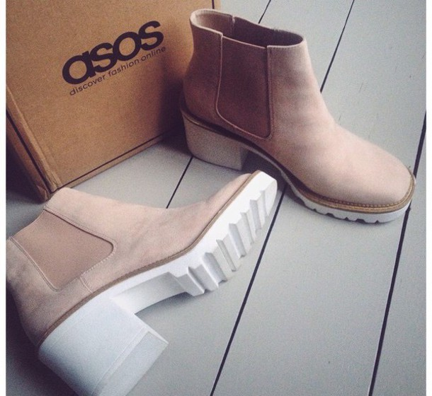 shoes asos hifh heels suede ankle boots suede boots