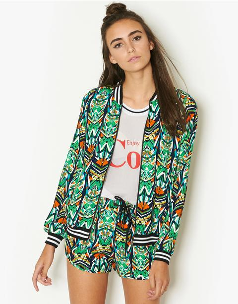 Fenchurch African Print Co-Ord Bomber Jacket | BANK Fashion