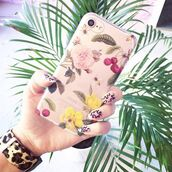 phone cover,yeah bunny,cherry,pastel,cute,iphone8