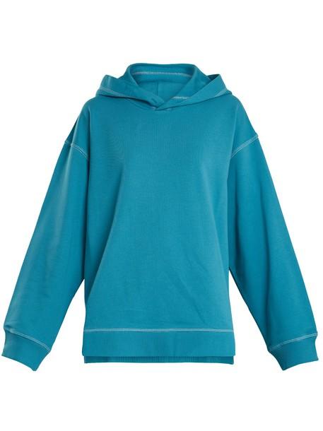 Mm6 Maison Margiela sweatshirt cotton blue sweater