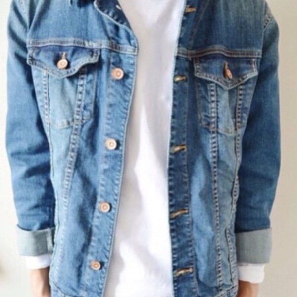 jacket jeans blue cute fall outfits tumblr grunge