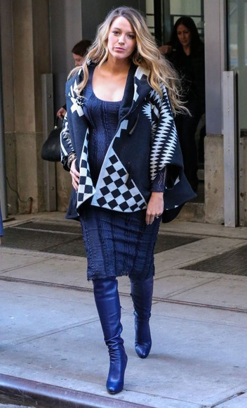 dress blake lively coat fall outfits boots