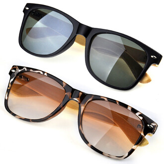 accessories eyewear turtle bamboo retro sunglasses