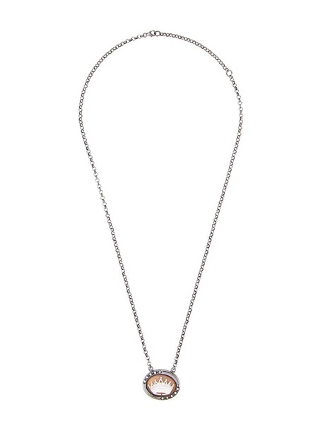 Amedeo women necklace silver grey metallic jewels