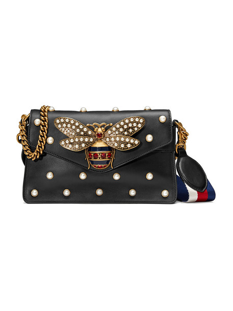 gucci mini metal women bag mini bag leather black silk