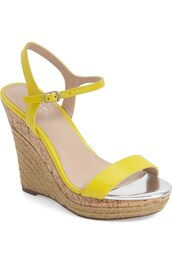 shoes,espadrilles,wedges,yellow,yellow shoes,espadrilles wedges