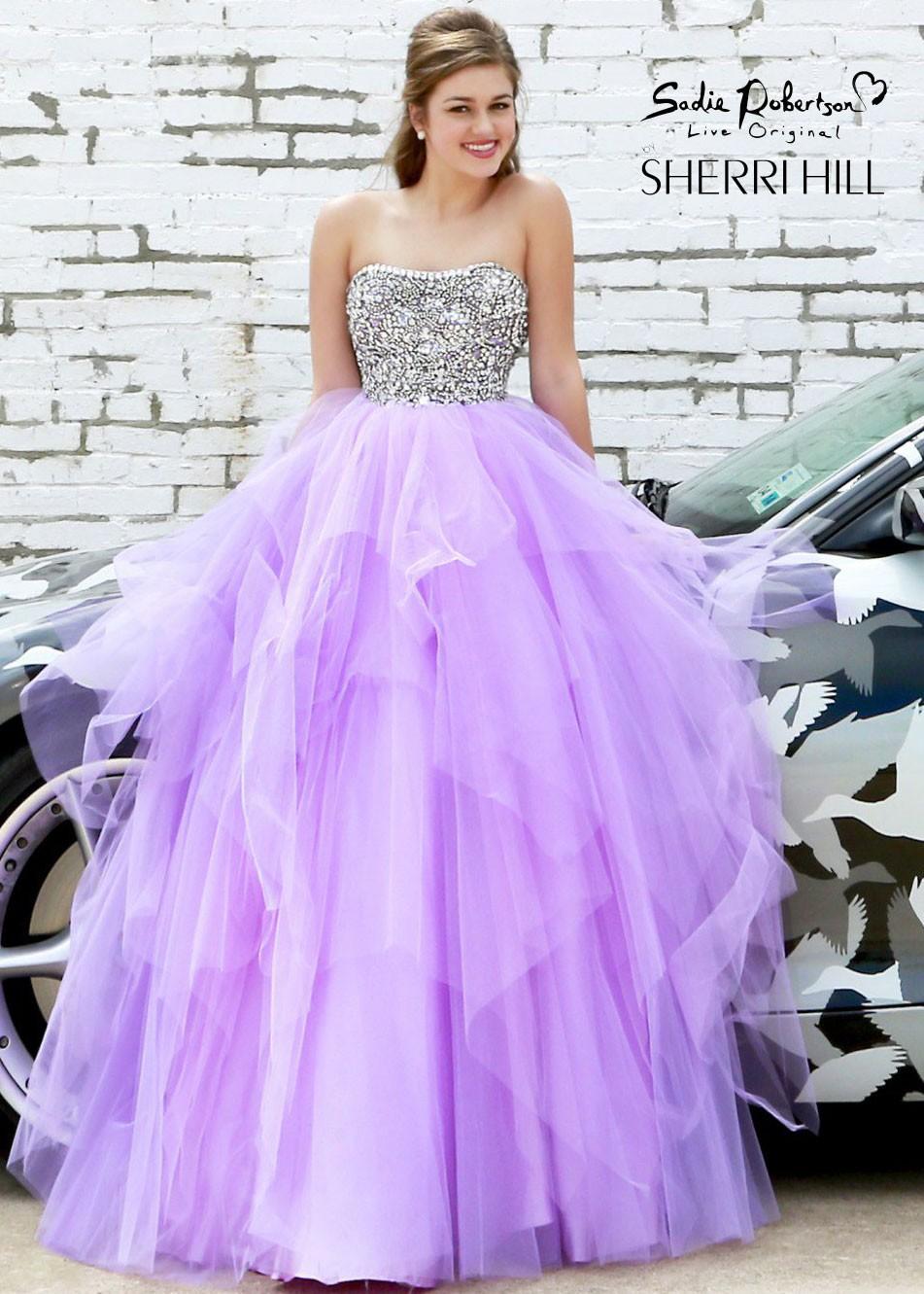 Sadie robertson purple dress