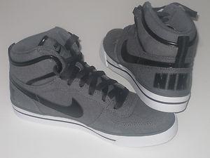 half off 67bcb c4833 Mens NEW BIG Nike High AC Vintage Grey Leather Trainers   eBay