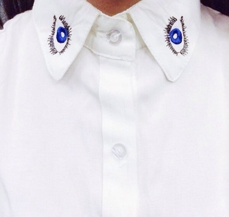 eye kenzo eye shirt collar shirt blouse office outfits hipster indie alexa chung chinese