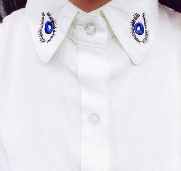 work hipster cheap eye kenzo eye shirt collar shirt blouse work outfit indie alexa chung chinese