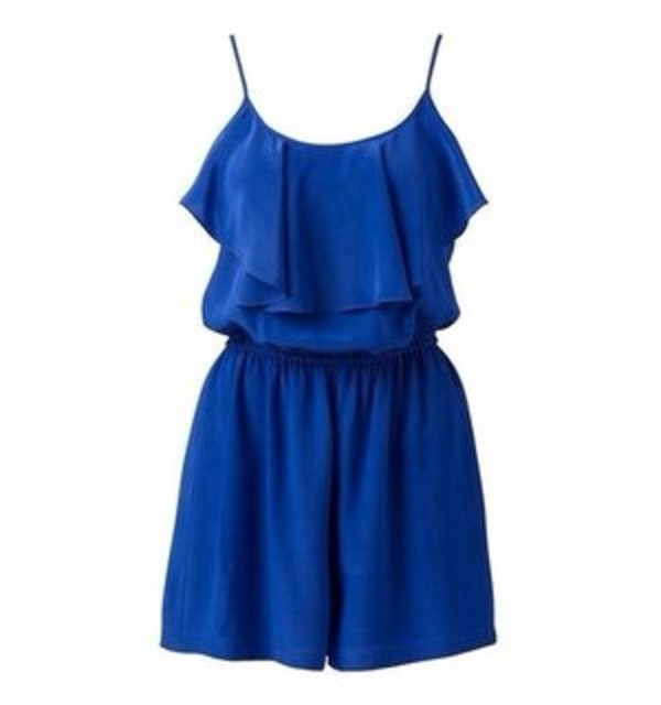 dress blue playsuit