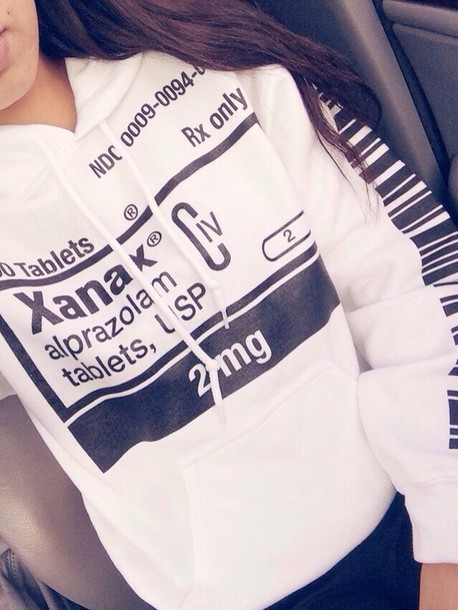 sweater hoodie xanax sweatshirt t shirt i need this label l kenny vince or wherever you can find it asap