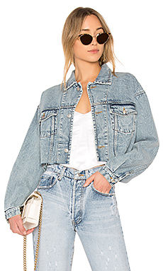 Palmer Girls x Miss Sixty Vintage Cropped Denim Jacket in Light Wash from Revolve.com