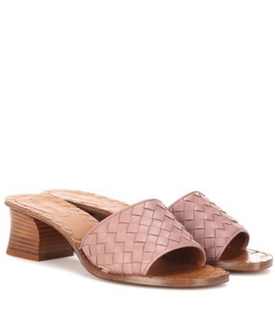 Bottega Veneta sandals leather brown shoes