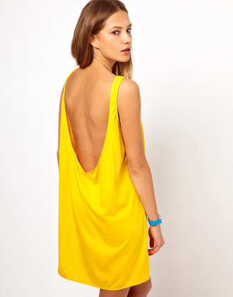 dress yellow yellow dress yellow summer dress open back open backed dress