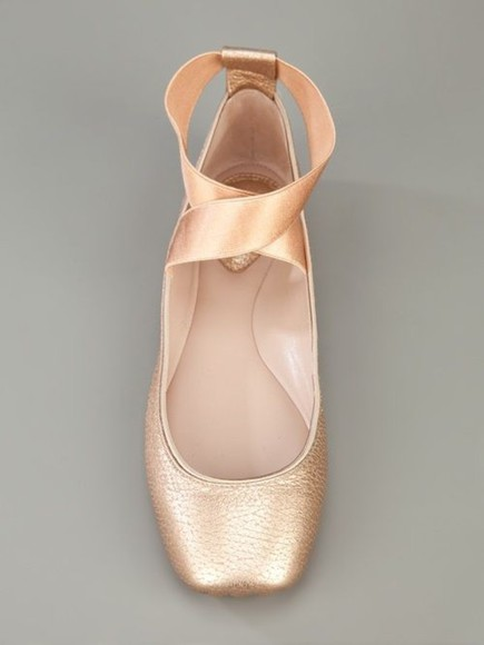 pink shoes ballet flats cute