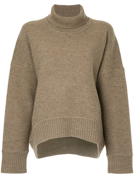 Cityshop jumper turtleneck women wool brown sweater