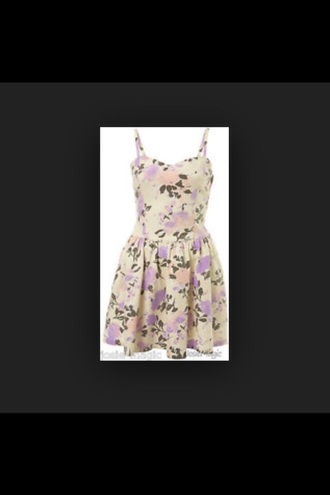 floral dress vintage purple dress strappy dress white and purple dress floral