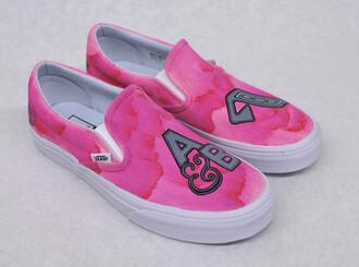 shoes vans sneakers hot pink hot pink sneakers hot pink shoes pink pink shoes pink sneakers pink vans custom vans