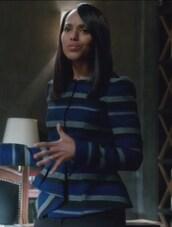 jacket,stripes,peplum,kerry washington,olivia pope,scandal