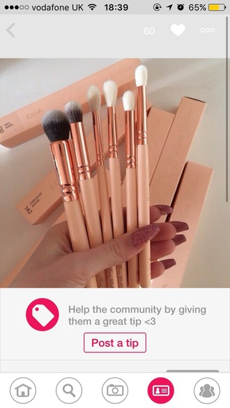 make-up makeup brushes rose gold