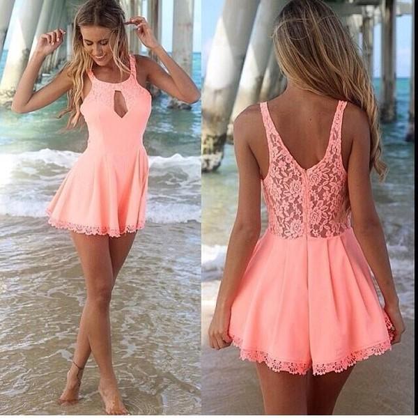 skirt dress peach