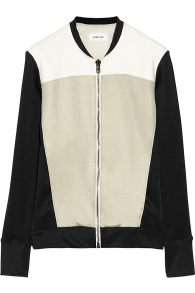 Helmut Lang|Jersey and ponte jacket|NET-A-PORTER.COM