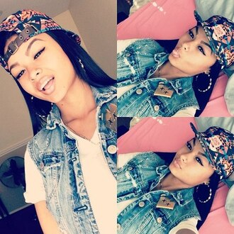 hat aztec cap jacket denim vest india westbrooks vest tribal pattern cute hat hipster hip hop