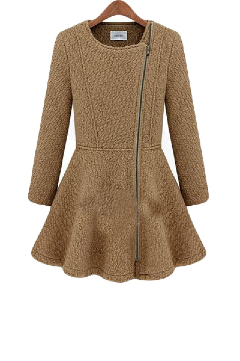 Autumn & Winter New Section With Skirt Hem Woolen Overcoat,Cheap in Wendybox.com