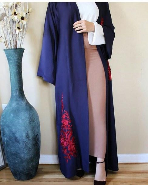blouse kimino pretty dress navy