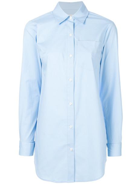 MICHAEL Michael Kors shirt oversized women spandex cotton blue top