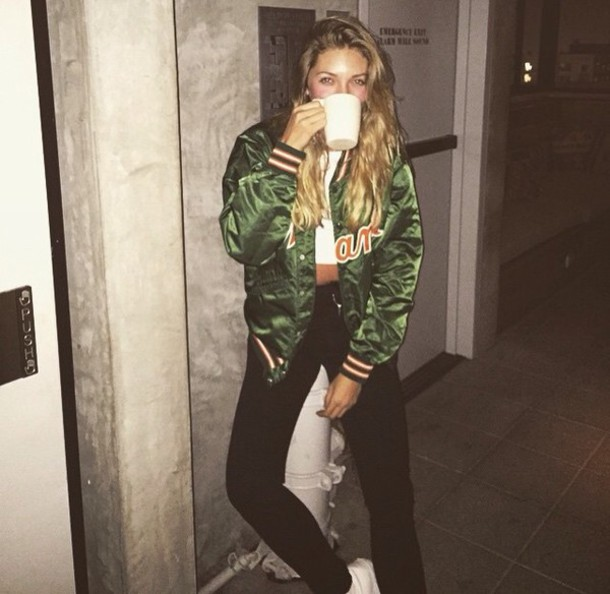 jacket baseball varsity jacket coat jessie andrews