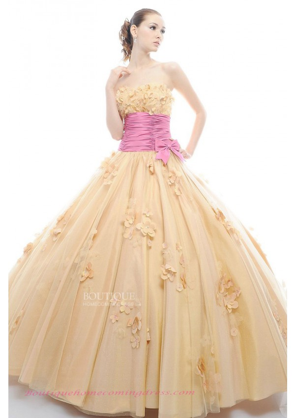Line strapless sleeveless 2015 quinceanera dress