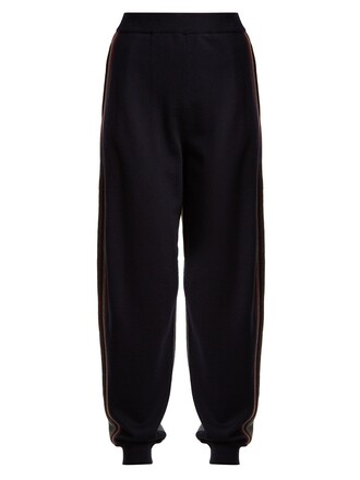 pants track pants wool navy