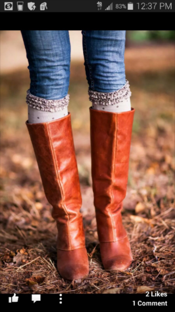 socks leg warmers brown leather boots