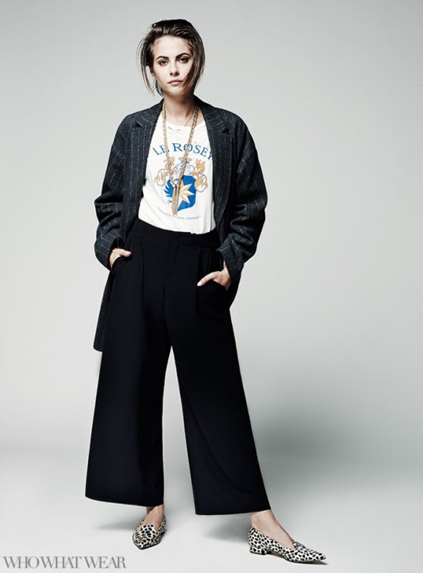 coat pants fall outfits willa holland shoes flats t-shirt necklace jewels