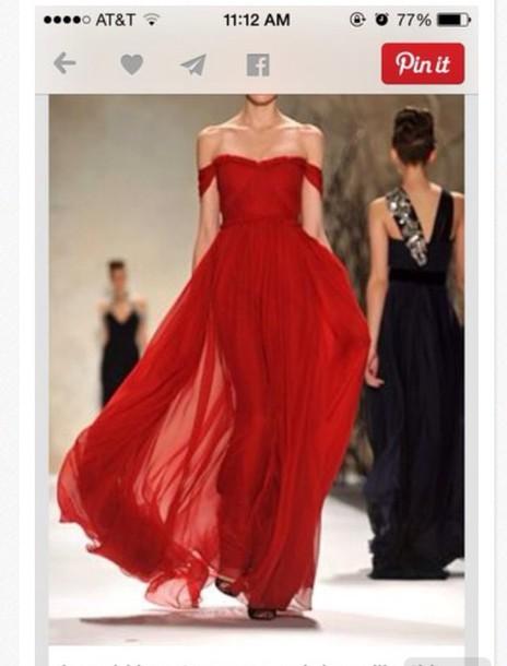 dress red dress prom dress gowm