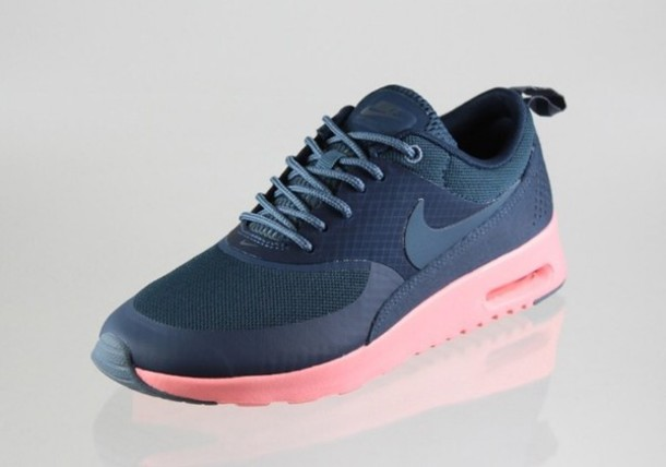 shoes, nikes, nike air max thea, nike air max thea, navy, at