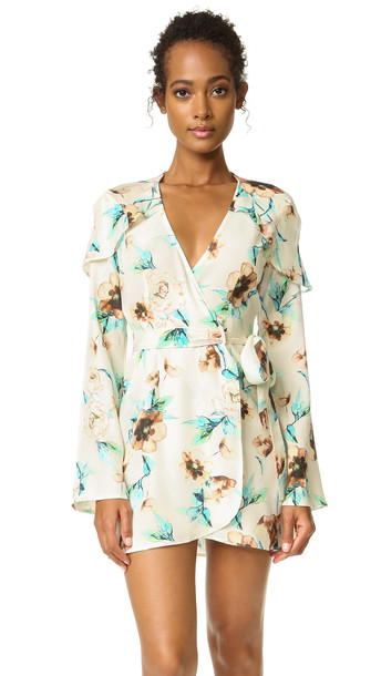 Stone Cold Fox Giselle Dress - Ivory Cosmo Print