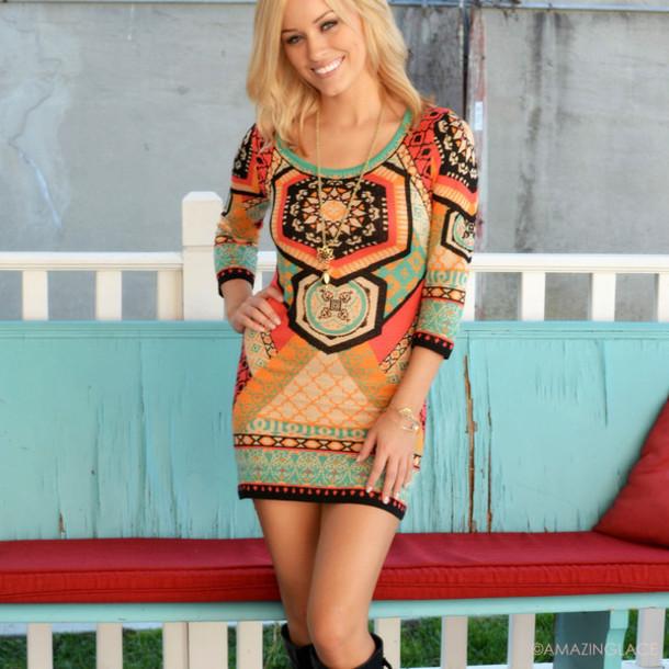 225b143ca31 geometric sweater dress bodycon dress fall outfits trendy amazing lace ootd  printed dress