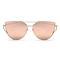 Metal frame trendy sunglasses