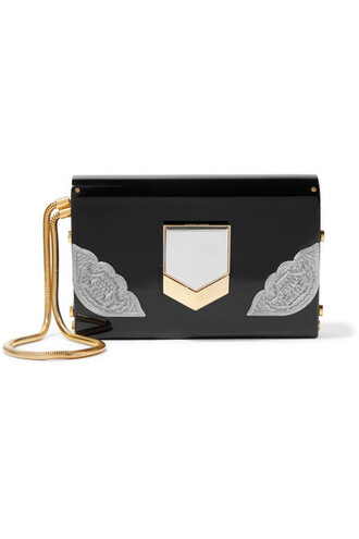 embellished clutch black bag