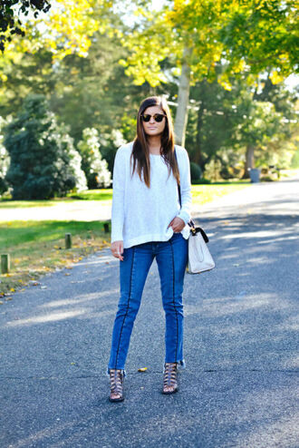 to be bright blogger jeans sweater shoes bag