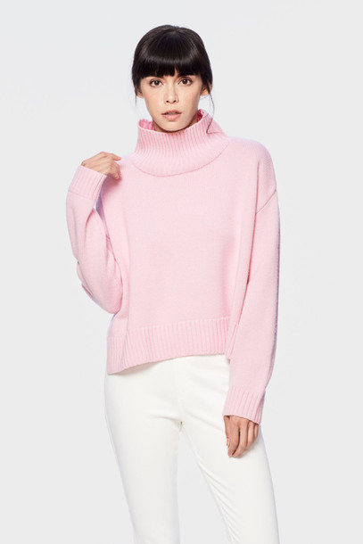 Sweater: siizu, pink sweater, baby pink, baby pink sweater ...