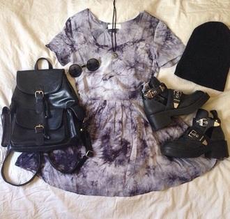 dress acid wash skater dress short sleeve