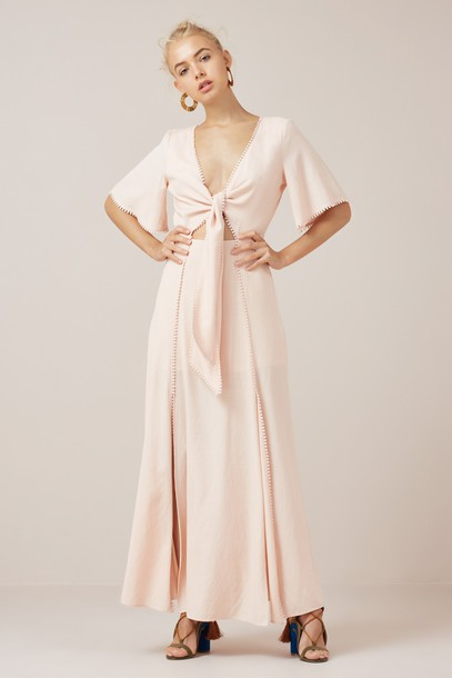 Finders Keepers dress maxi dress maxi nude