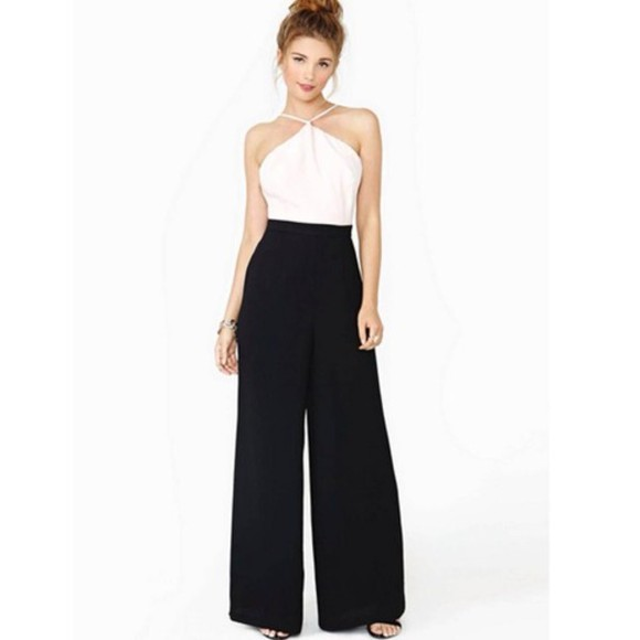 A certain Romance pants long pants jumpsuit white jumpsuit romper