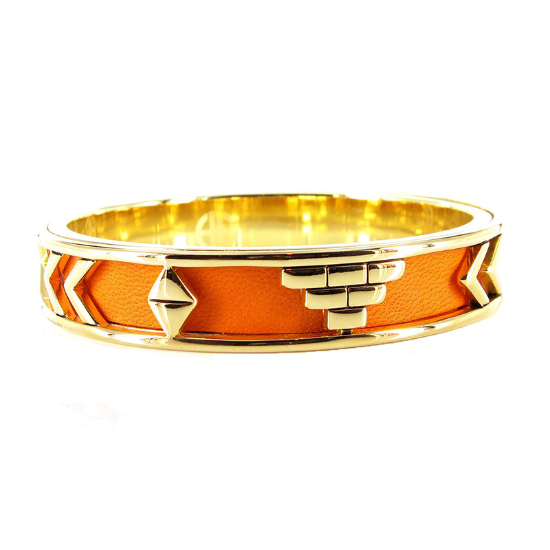 House of harlow 1960 aztec bangle in orange leather