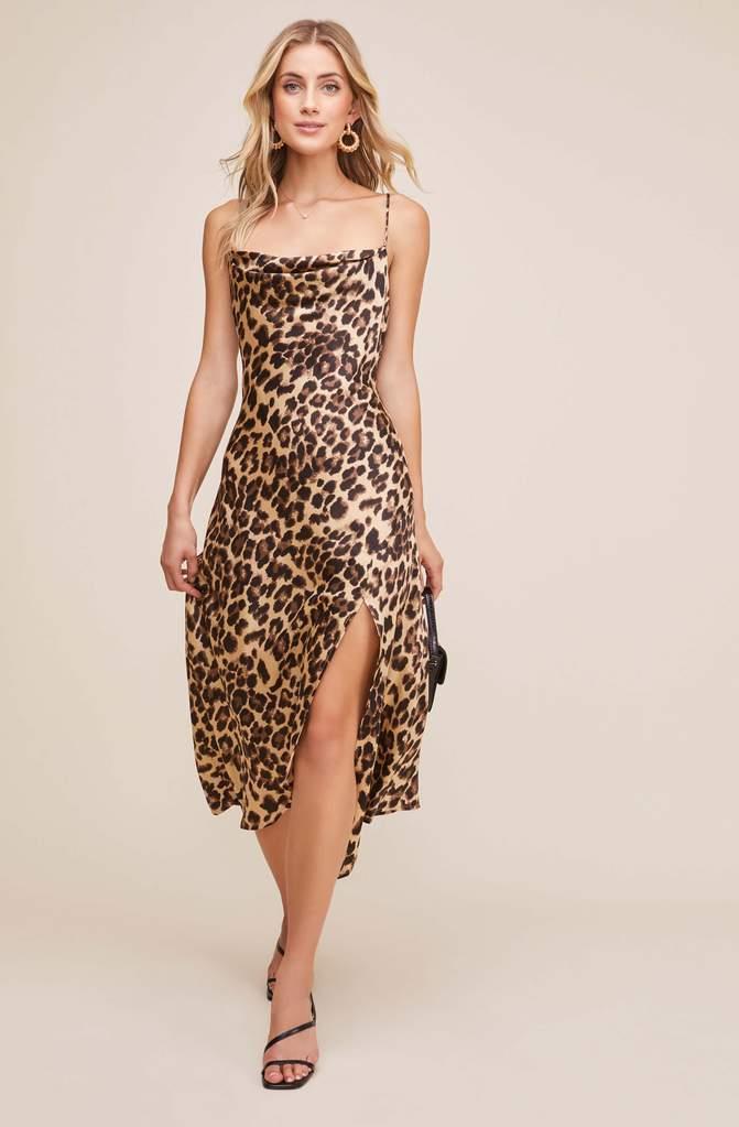 Gaia Animal Midi Dress